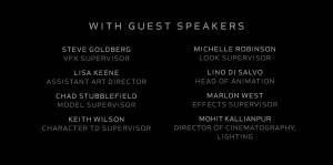 The Making of Frozen Guest Speakers