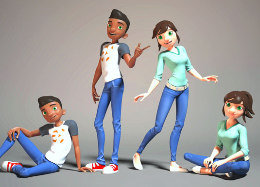 new free rigs from cogswell college thinking animation