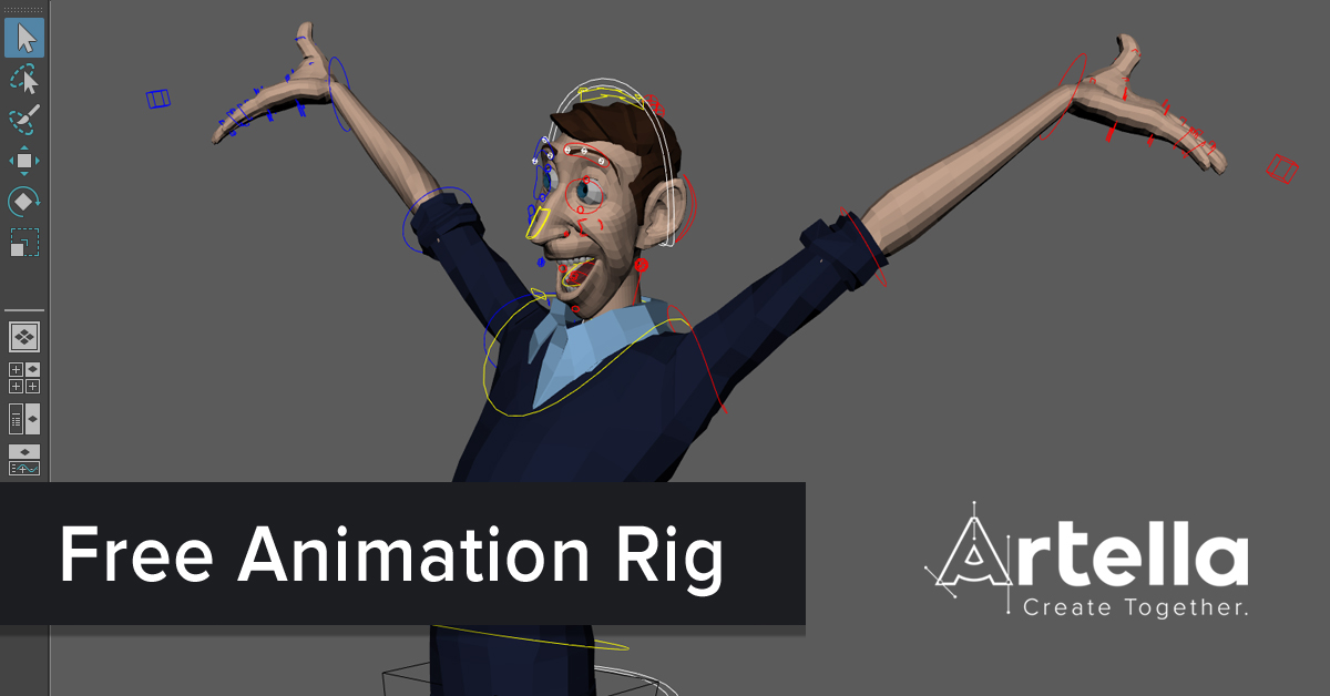 New Free Rig Artella Franklin Thinking Animation