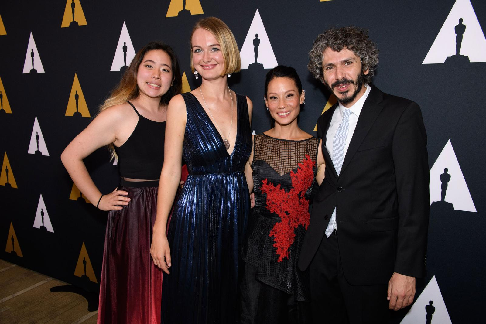 Alicja Jasina (second from left) at the Student Academy Award